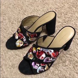 Anne Taylor embroidered sandals 7.5